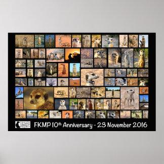 Poster Affiche d'anniversaire de FKMP 10ème - choisissez