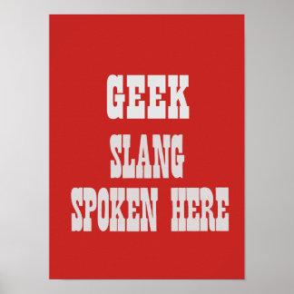 Poster Affiche d'argot de geek