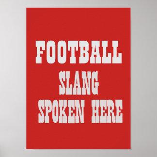 Poster Affiche d'argot du football
