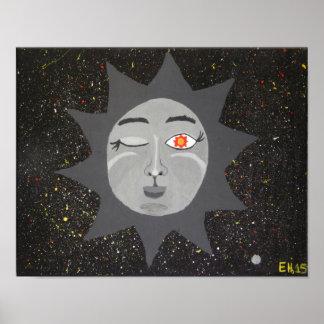 """Poster """"Affiche d'art de 11x14 du Sun le plus sage"""""""