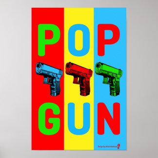 Poster Affiche d'art de bruit d'arme à feu de bruit