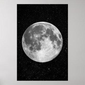 Poster Affiche d'art de pleine lune