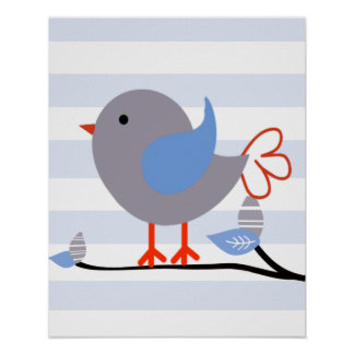 Poster Affiche d'art d'oiseau de singe de mod
