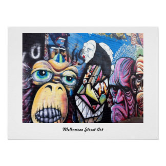 Poster Affiche d'art/graffiti de rue de Melbourne