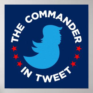 """Poster Affiche d'atout : """"Le COMMANDANT IN TWEET"""" (petit)"""