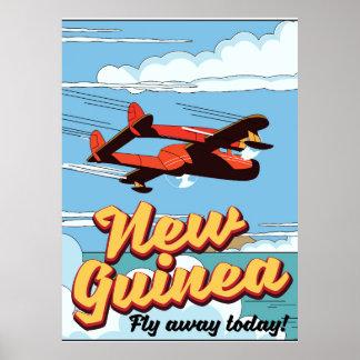 Poster Affiche d'aventure de la Nouvelle-Guinée