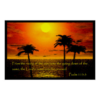 Poster Affiche de 113:3 de psaume