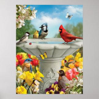 """Poster Affiche de """"amis de jardin"""" d'Alan Giana"""