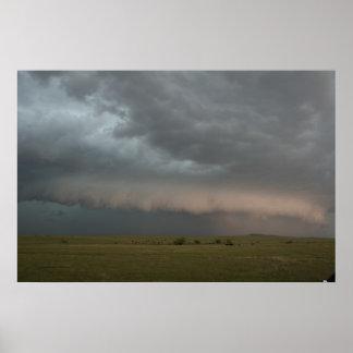 Poster Affiche de approche de ferme de tempête