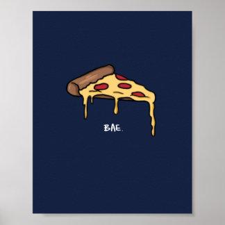 Poster Affiche de Bae de pizza