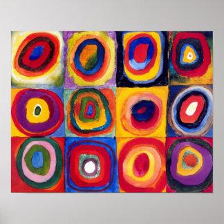 Affiche de beaux-arts de cercles concentriques de