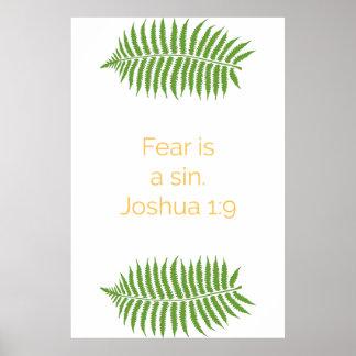 Poster Affiche de bible, citation de 1:9 de Joshua