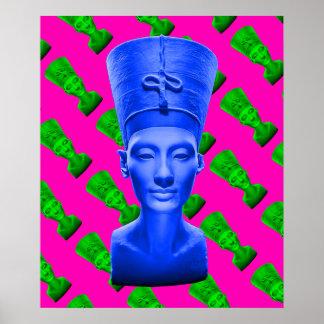 Poster Affiche de bleu de Nefertiti