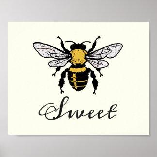 Poster Affiche de bonbon à abeille