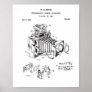 Poster Affiche de brevet d'appareil-photo, brevet vintage
