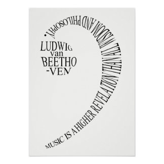 Poster Affiche de cadeau de mélomanes - art de mot de