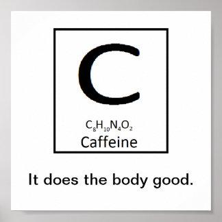 Poster Affiche de caféine