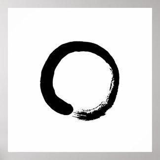 Poster Affiche de calligraphie de cercle de zen d'Ensō