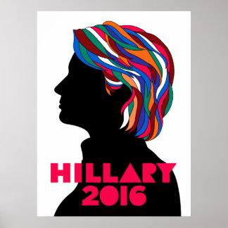 Poster Affiche de campagne de Hillary Clinton 2016 rétro