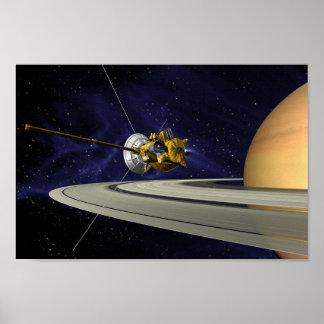 Poster Affiche de Cassini Saturn