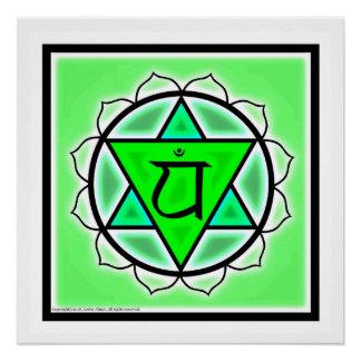 Poster Affiche de Chakra de coeur