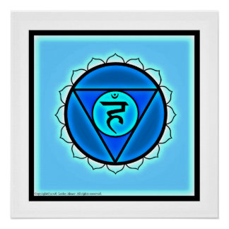 Poster Affiche de Chakra de gorge