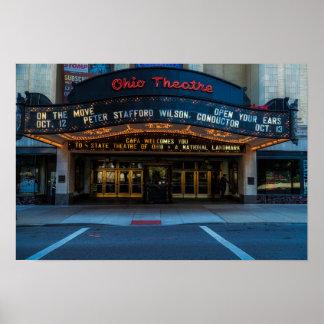 Poster Affiche de chapiteau de théâtre de l'Ohio