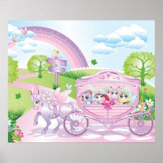 Poster Affiche de chariot pour la pièce d'enfants