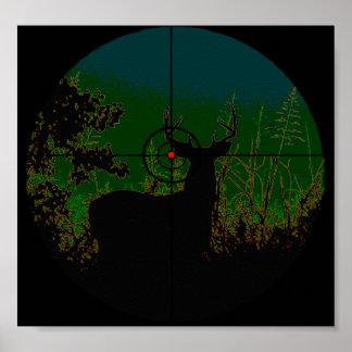 Poster Affiche de chasseur de nuit