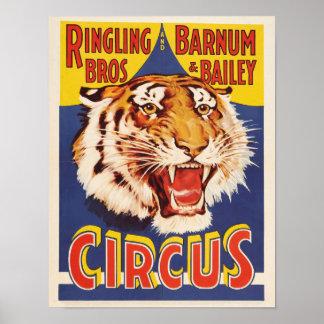 Poster Affiche de cirque de frères de Ringling