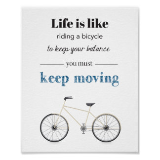 Poster Affiche de citation de bicyclette