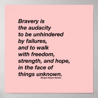 Poster Affiche de citation de bravoure