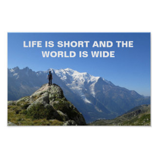 Poster Affiche de citation de voyage d'Alpes de Mont