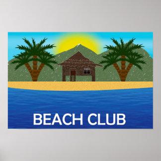 Poster Affiche de club de plage