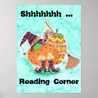 Poster Affiche de coin de lecture de chute