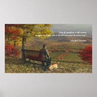 Poster Affiche de compagnons d'automne avec la citation