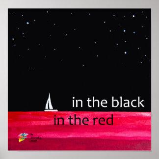 Poster Affiche de comptabilité - dans le noir, en rouge