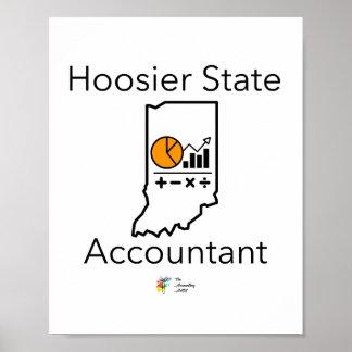 Poster Affiche de comptable d'état de Hoosier - Indiana