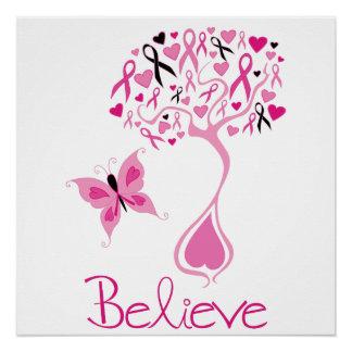 Poster Affiche de conscience de cancer du sein