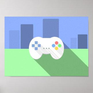 Poster Affiche de contrôleur de jeu vidéo