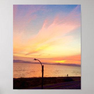 Poster Affiche de coucher du soleil