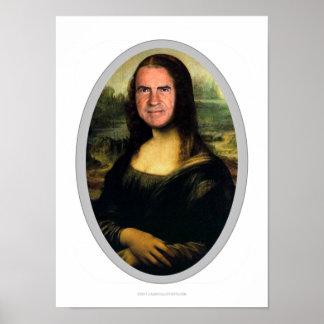 Poster Affiche de coupe-circuit de carnaval de Mona Lisa