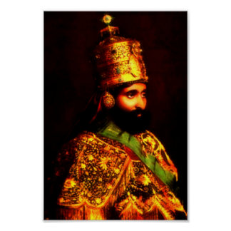 Poster affiche de couronnement du ቀዳማዊኃይለሥላሴ | Haile