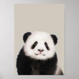 Poster Affiche de crèche d'animaux de bébé - panda