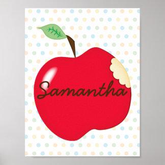 Poster Affiche de crèche d'Apple avec le nom