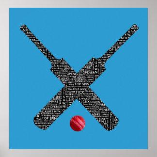 Poster affiche de cricket