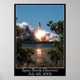 Poster Affiche de découverte de navette spatiale