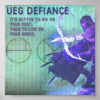 Poster Affiche de défi