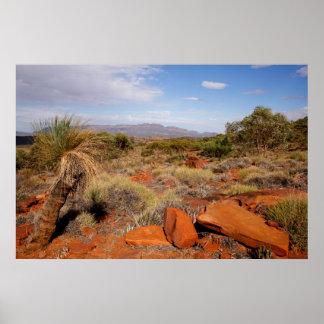 Poster Affiche de désert d'Australien à l'intérieur