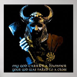 Poster Affiche de Dieu de Viking